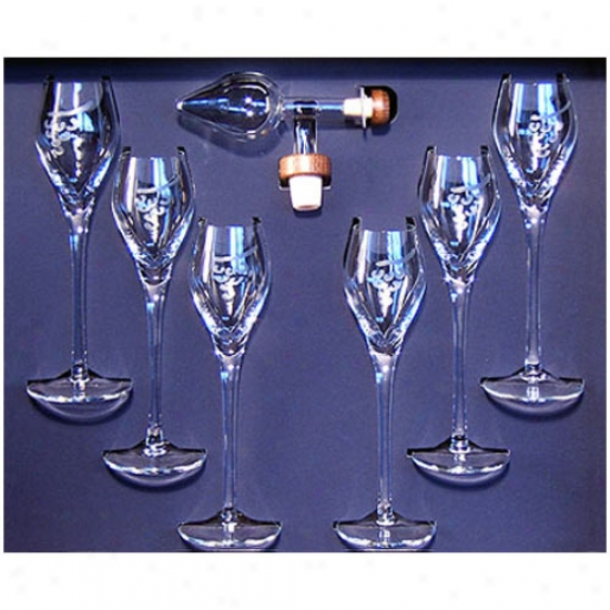 Centellino Gift Box - Small Decanter And Six Brandy Goblets