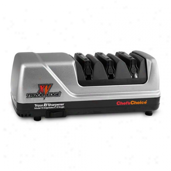 Chef's Choice Brushed Metal Trizor Xv Sharpener Edgeselect