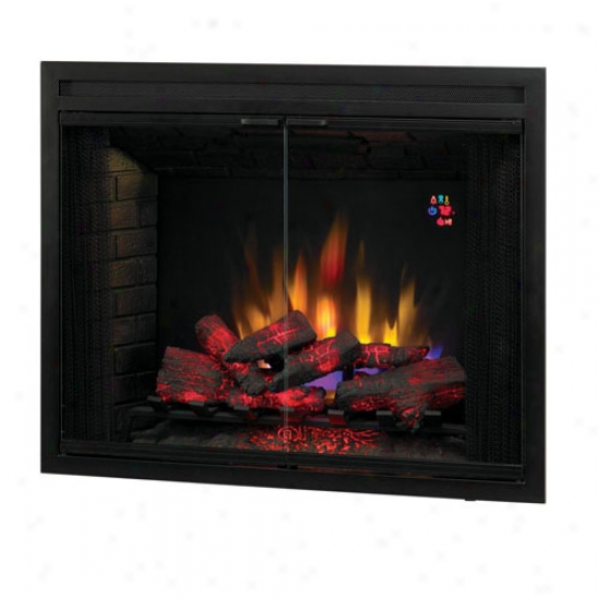 Classic Flame 39  Swinging Door Led Builder's Box With Remote