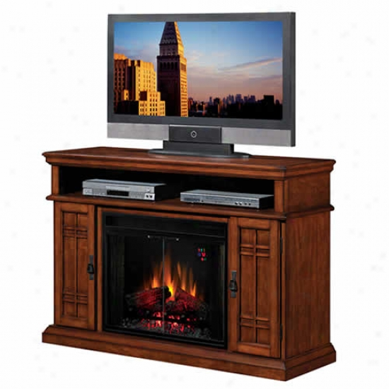 Classic Flame Carmel 28  Electric Fireplsce And Media Console