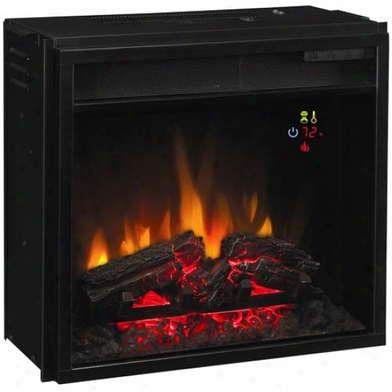 Classic Flame Fixed Glass Electric 18  Fireplace Insert