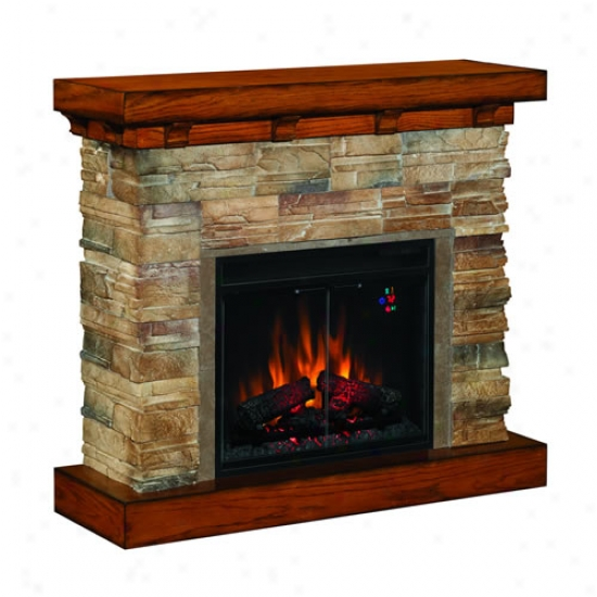 Classic Flame Flagstone Electric Fireplace Mantel