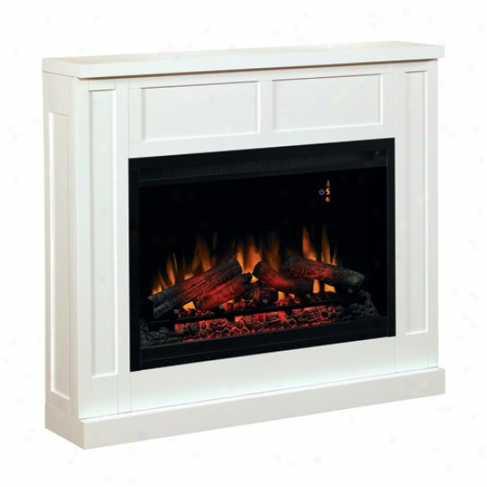 Classic Flame Traditional Design Paintable Builder's Mantel - Semi-gloss White