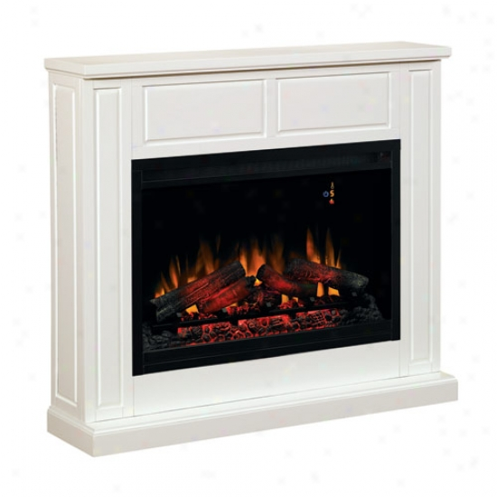 Classic Falme Transitional Design Paintable Builder's Mzntel - Semi-gloss White