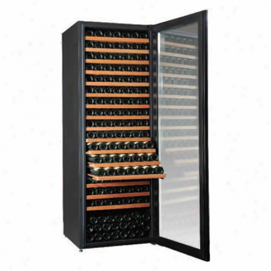 Climadiff Diva 315 Bottle Single Temp Wine Cooler With 16 Shelf Package
