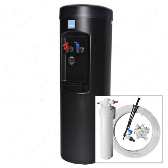 Clover Black Hot & Cold Warer Cooler With Black Pou Plus Install Kit & Strain