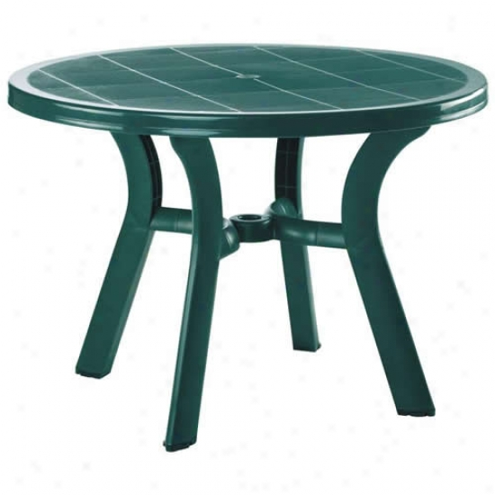 Compamia 42 Inch Truva Round Resin Dining Table