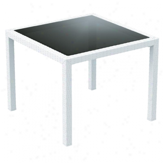 Compamia Miami Resin Wickerlook 37 Inch Dining Table