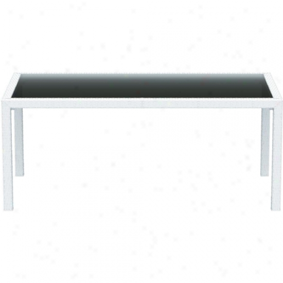 Compamia Miami Resin Wickerlook 71 Inch Dining Table