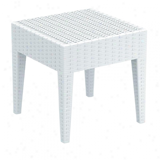 Compamia Miami Resin Wickerlook Side Table
