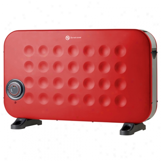 Crane Red Convection Flat Panel Electric Space Heater