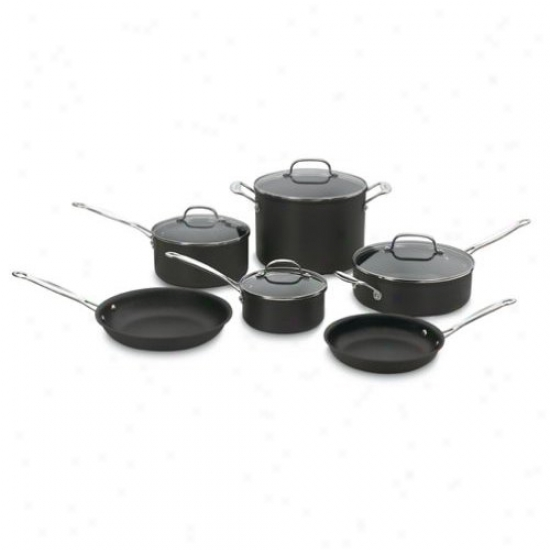 Cuisinart Chef's Classic 10-piece Non-stick Hard Anodized Cookware Set