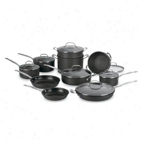Cuisinart Chef's Classic 17-piece Non-stick Hard Anodized Cookware Set