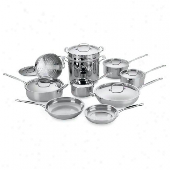 Cuisinart Chef's Classic 17-piece Stainless Knife Cookware Set