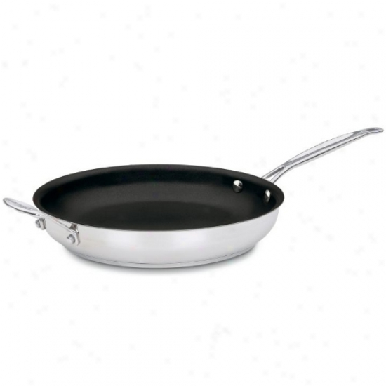Cuisinart Chef's Classic Nonstick Staainless Steel 12 Inch Skillet