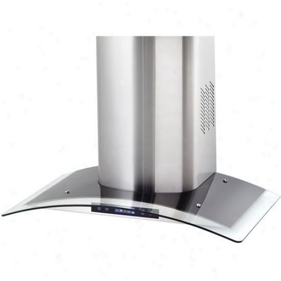 Danby Silhouette Select Series 36 Inch Wall Mount Curved Glass Chimney Range Hood