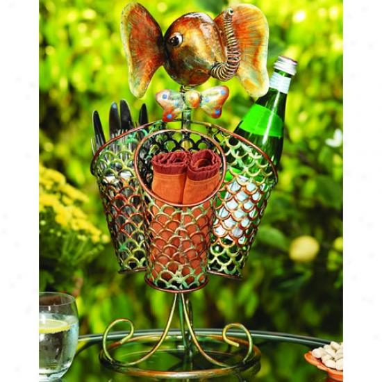 Decobreeze 3 Basket Elephant Table Spinner