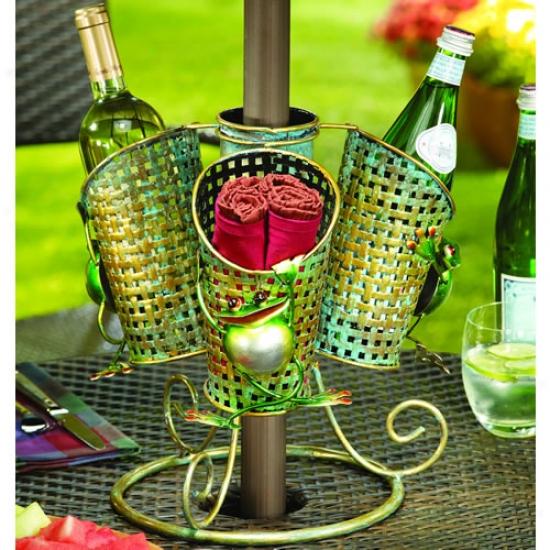 Decobreeze 3 Basket Frog Umbrella Spinner