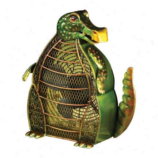 Decobreeze Alligator Shaped Figurine Fan