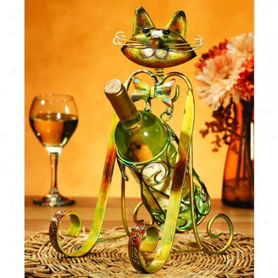 Decobreeze Cat Wine Bottle Holder