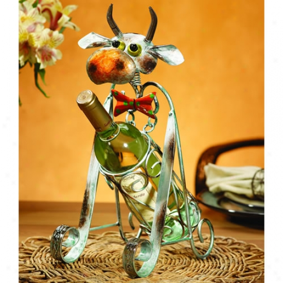 Decobreeze Cow Wine Bottle Holder