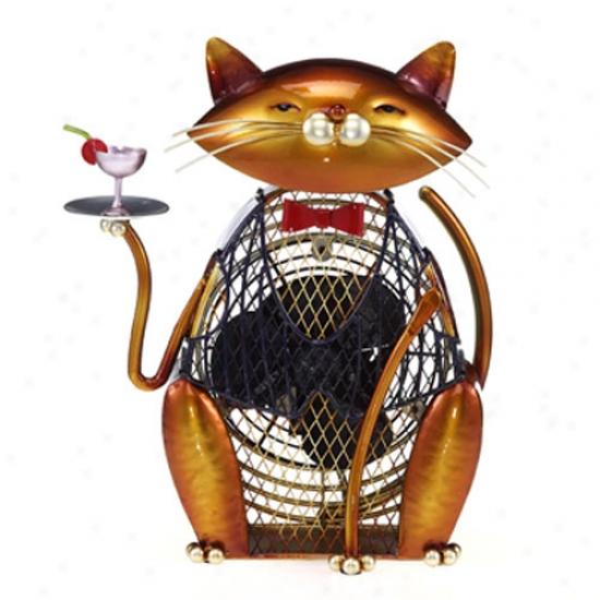 Decobreeze Figurine Table Top Fan-cat Cheers