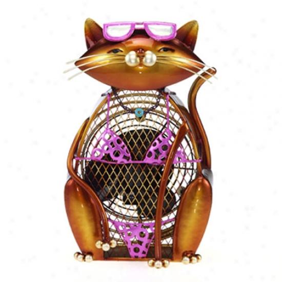 Decobreeze Figurine Table Top Fan-cat Summer