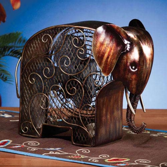 Decobreeze Figurine Table Top Fan-elephant