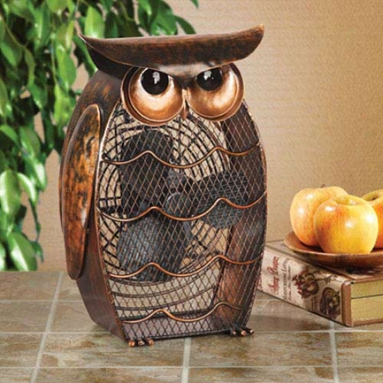 Decobreeze Figurine Tabl Excel Fan-owl