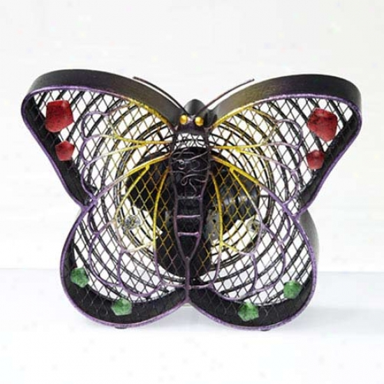 Decobreeze Figurine Table Top Fan-small Butterfly