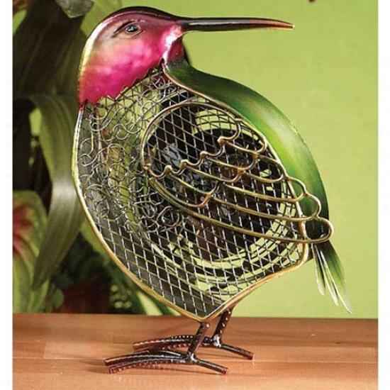 Decobreeze Figurine Table Top Fan-small Hummingbird