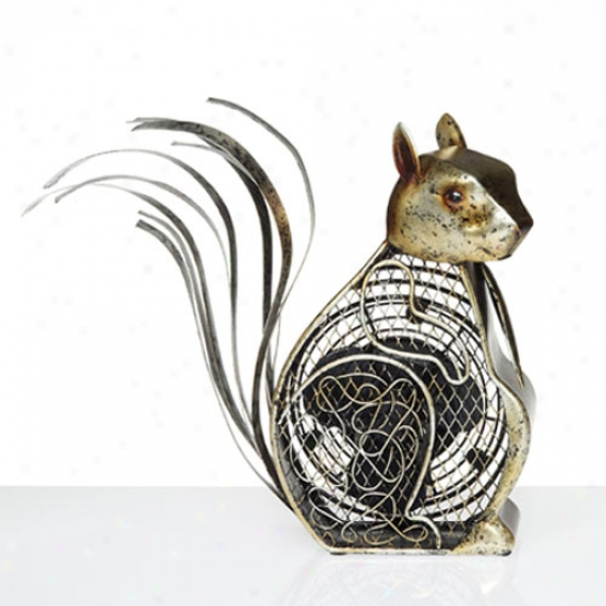 Decobreeze Figurine Table Top Fan-squirrel