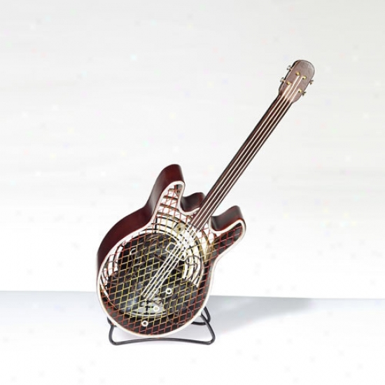 Decobreeze Figurine Tabletop Fan - Guitar