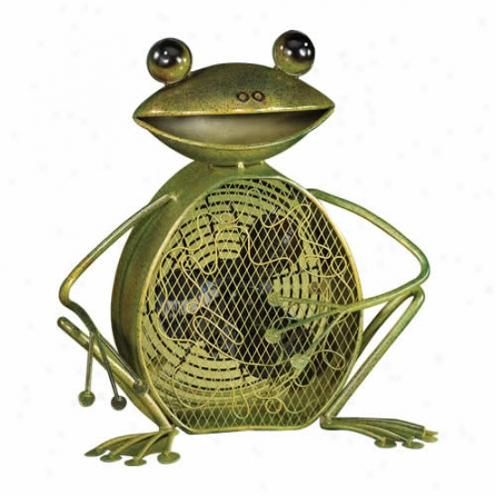Decobreeze Frog Shaped Figurine Fan