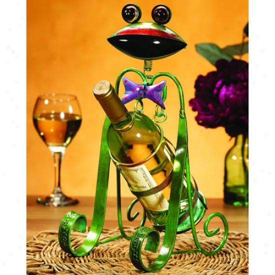Decobreeze Frog Wine Bottle Holder