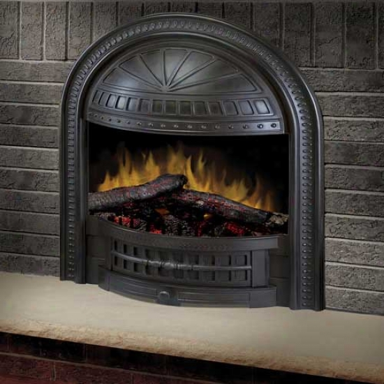 Dimplex 23  Deluxe Electric Fireplace Insert With Cast Hooded Trim