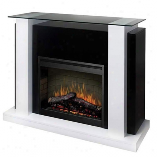 Dimplex Bella Electric Fireplace - Black And White