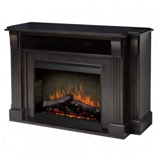 Dimplex Langley Media Stand With Electric Fireplace - Espresso