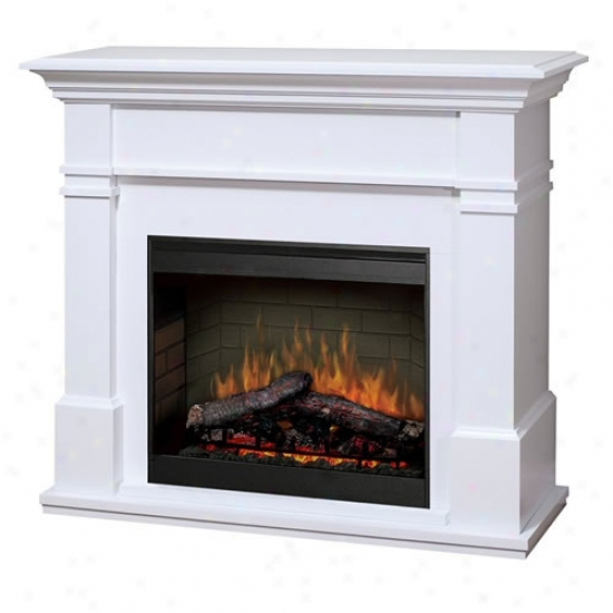Dimplex Maestro Kenton Lightning-like Fireplace - White