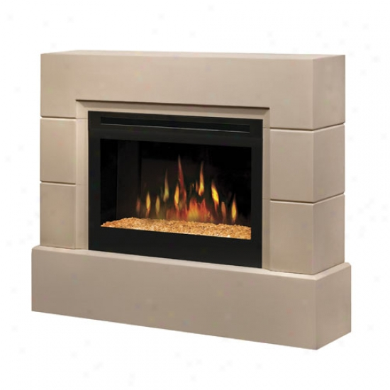 Dimplex Mason Cast Concrete Electric Fireplace