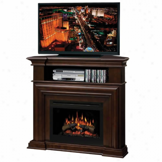 Dimplex Montgomery Full of fire  Log Fireplace Corner Media Console - Espresso