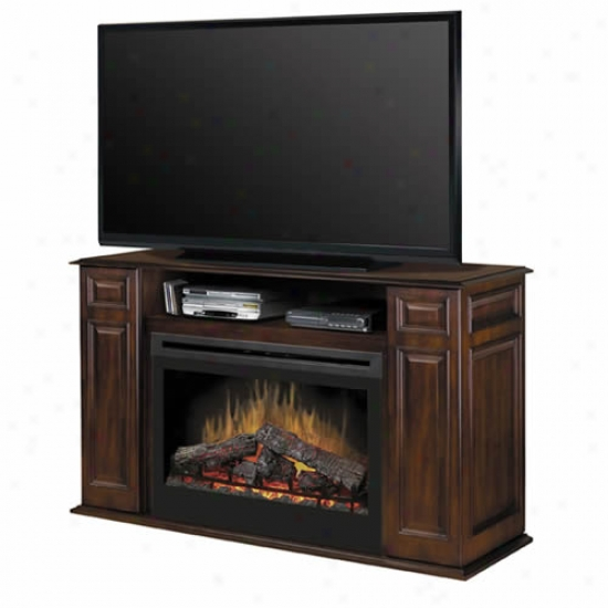 Dimplex Symphony Atwood Media Stand With Elecfric Fireplace - Walnut