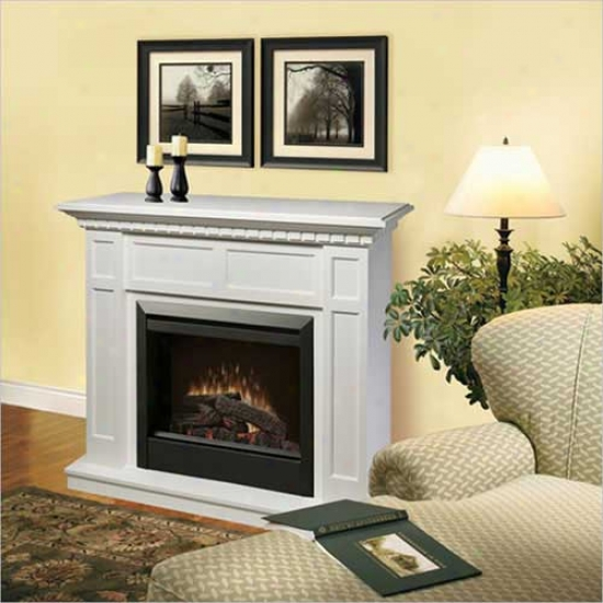 Dimplex Symphony Caprice Electric Fireplace - White
