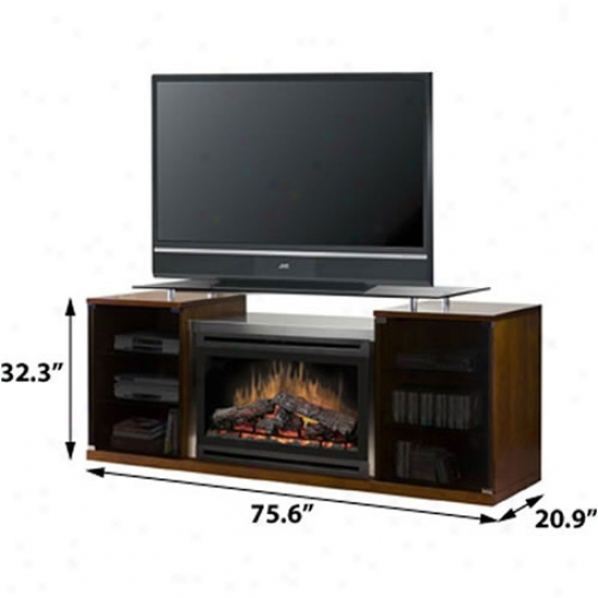 Dimplex Symphony Marana Media Console With Electric Fireplace - Black