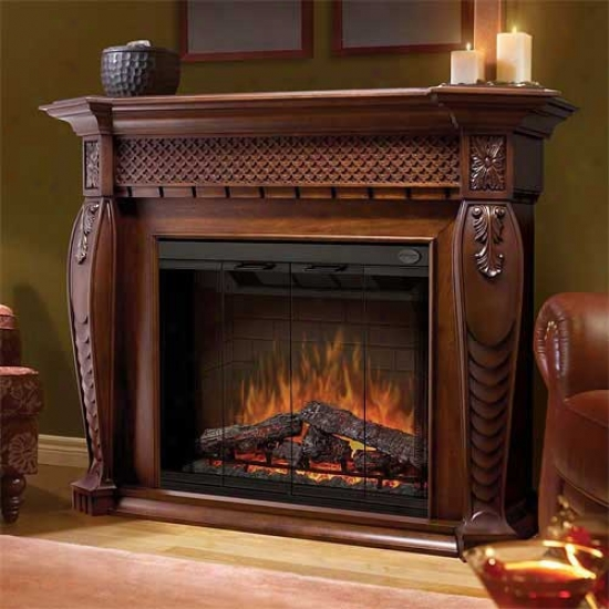 Dimplex Vienna Electric Fireplace - Burnished Walnut