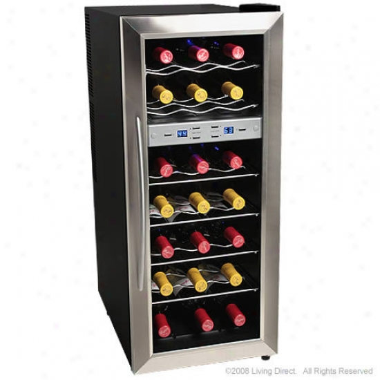 Edgestar 21 Botyle Dual Zone Stainless Steel Wine Cooler