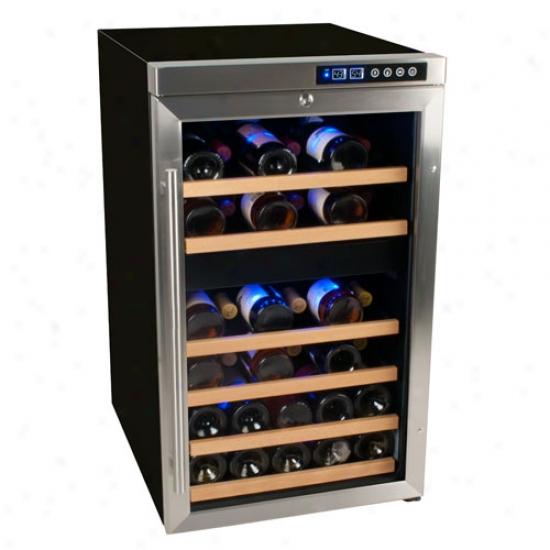 Edgestar 34 Bottle Free Standing Dial Zone Wine Cooler