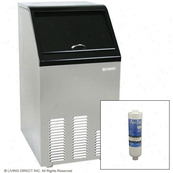 Edgestar 65 Lb. Capacigy Full Size Ice Maker With Filter Kit