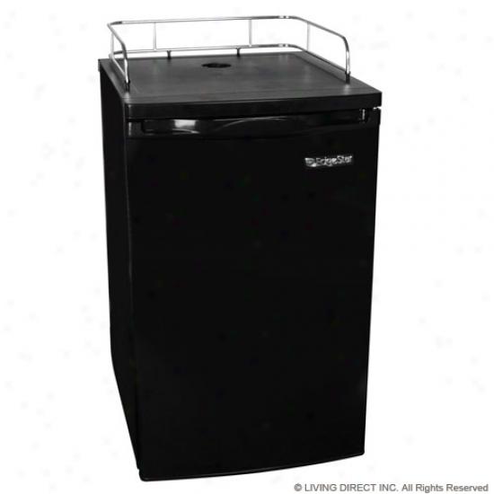 Edgestar Black Refrigerator For Kegerator Confersion