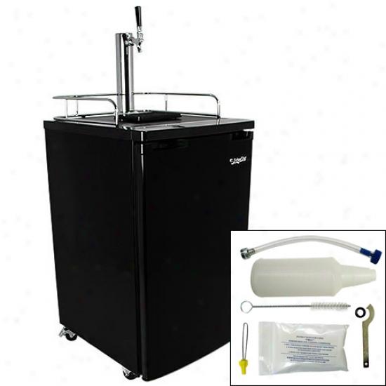 Edgestar Full Size Kegerator, Dratf Beer Dispenser, & Cleaning Kit